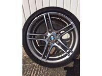 """BMW1 Series 18"""" M Double Spoke 313 REAR Alloy Wheel & Tyre BARGAIN"""
