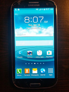 Samsung Galaxy s3 with chatr,Rogers, fido