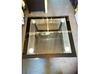 Two tier double smoked glass coffee tables