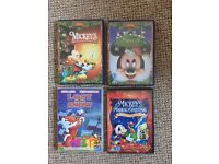Four Christmas Dvd's including Disney and Mickey Mouse