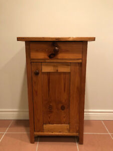 Antique Pine Washstand/Nightstand with Door