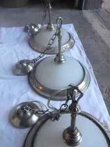 brushed pewter / brushed nickel light fixtures and chandeliers Kitchener / Waterloo Kitchener Area image 2