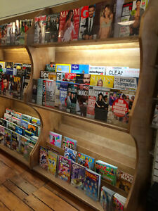 Wood Magazine Shelf with Lighting Kingston Kingston Area image 2