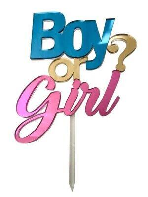 CAKE TOPPER IN PLEXIGLASS A SPECCHIO BOY OR GIRL 20 CM