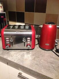 B revile Kettle and 4 slice toaster