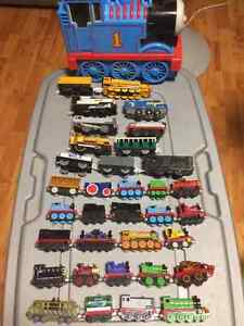 34 THOMAS TRAINS W/ CASE