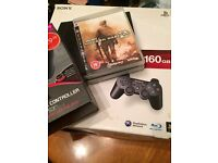 PS3 Slim 160GB - With 3 controllers & 2 games (PlayStation 3) Original box & packaging [Immaculate]