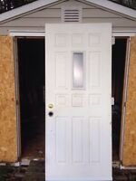 "34"" steel door R hand swing 79"" tall"