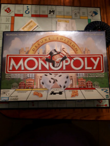 Monopoly deluxe edition  1998 Parker brothers French & English l