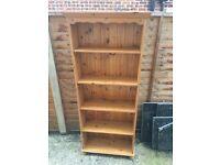 Solid Pine Book Shelf Unit