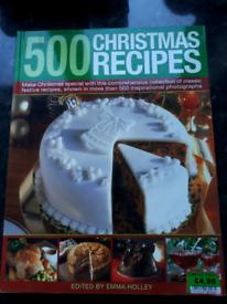 500 Christmas Recipes book, VGUC Free to a good home