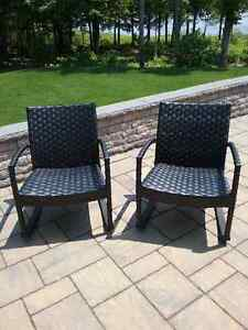 PATIO ROCKING CHAIRS   (TWO)  NEW
