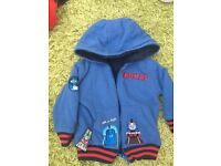 9-12 month boys Thomas the tank engine hoodie-coat/jacket