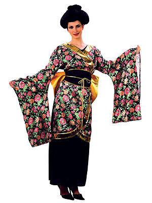 Chinese Lady Costume (Adult Geisha Girl Costume Japanese Chinese Oriental Kimono Ladies Fancy)