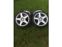 """Mercedes AMG 18"""" alloy wheels"""
