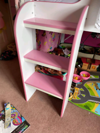Mid sleeper bed pink and white