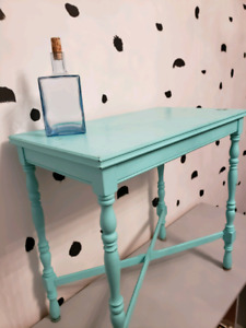 Decorative Side Table and Hutch