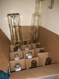 Wine making supplies - wine bottles