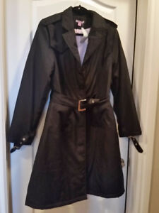 Black warm coat - size M and S