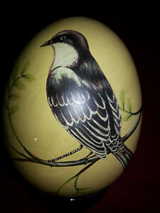 Painted Ostrich Egg