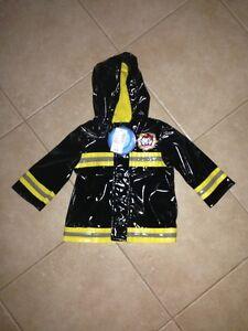 New Fireman rain coat 6-9 months