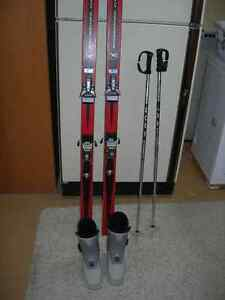 Rossignol Concorde Skis, Salomon Bindings, & Nordica Boots