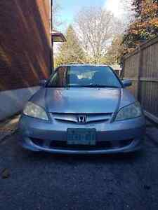 2005 Honda Civic Sedan - with winter tires and bluetooth