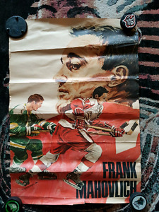 SUPER RARE Detroit Red Wings Frank Mahovlich promotional poster