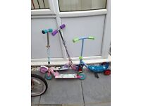 3 kids scooters