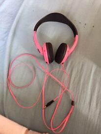 Pink Skull Candy Over head Headphones