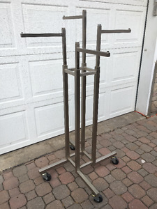 Stainless Retail Store Clothing Racks Store Fixtures