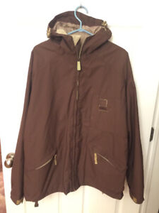 Men's winter coat with ski pants