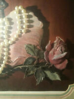 PEARLS . . . & a ROSE... ROMANTIC ORIGINAL 40 years old..