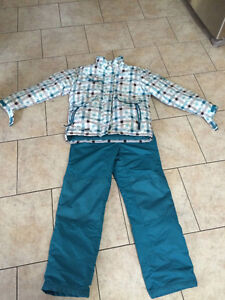 Girls Teal Snow Suit