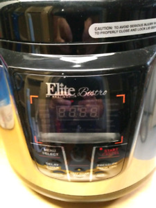 New: Elite Bistro 8 Quart Digital Pressure Cooker