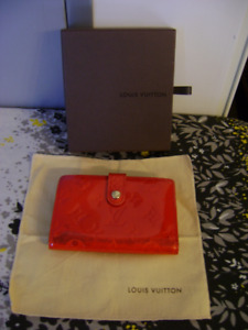 Louis Vuitton Vernis Red French Wallet #MI0023