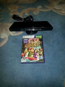XBOX 360 KINECT INCLUDES KINECT ADVENTURES FOR SALE