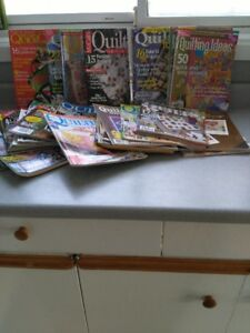 60 Quilting Magazines. Great for the beginner or advanced.