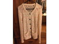 Jack Wills cream knitted cardigan 12