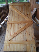 Barn Door Décor Custom Made Doors, Roller or Hinged Any Size