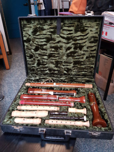 Mollenhauer Deluxe Recorder Family Case and Recorders