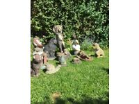 Assorted vintage garden ornaments, statues from £5-£30