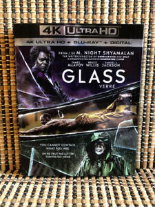 Glass 4K (2-Disc Blu-ray, 2019)+Slipcover.Bruce Willis/M Night S