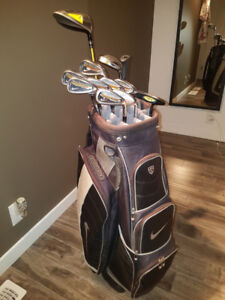 Golf Clubs - Irons, Sandwedge and Putter with Bag an Accessories