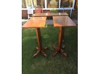 Solid oak high tables
