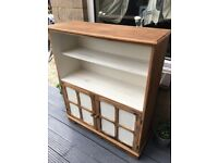 Shabby chic bookcase cabinet / linen clothes shoe storage £50 b on Avon.