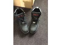Snap on work boots steel toe