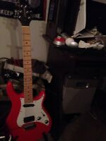 Red guvnor electric guitar