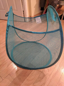Ikea Laundry Basket bag, Collapsible, blue