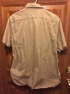 Beige M men's dress sleeveless shirt London Ontario image 2